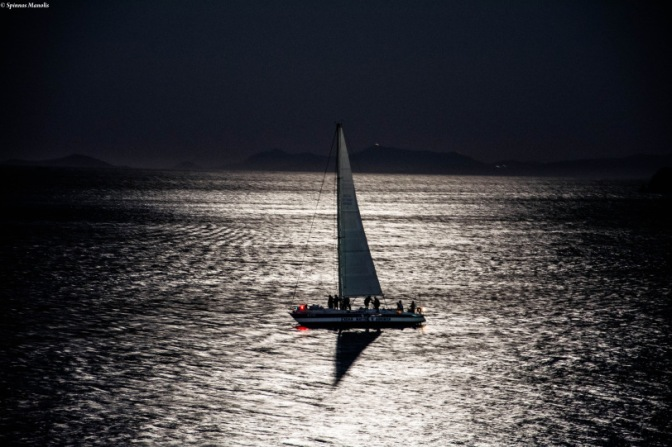 Sailing at night!