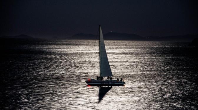Sailing at night!