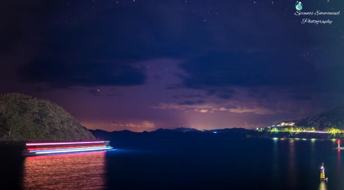 Port of Patmos at night