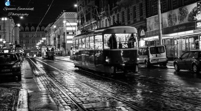 Τraveling all night on the Τown in two rails.